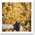 Premium Greeting Card, Yellow Flower Painting