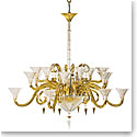 Baccarat Crystal, Mille Nuits Gold D'Or Chandelier, 18 Light