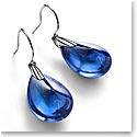Baccarat Crystal Psydelic Wire Pierced Earrings, Riviera Clear