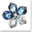 Baccarat Crystal Fleurs De Psydelic Riviera Pendant Brooch