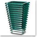 "Baccarat Crystal, Eye Rectangular 8"" Vase, Green"
