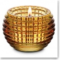 Baccarat Crystal, Yellow Eye Crystal Votive, Single