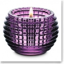 Baccarat Crystal, Amethyst Purple Eye Crystal Votive, Single