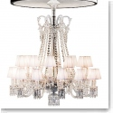 Baccarat Crystal Zenithal Lampshades, White, Set of Six