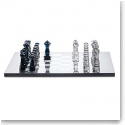 Baccarat Crystal, Jeu Chess Set, Clear and Midnight Numbered