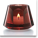 Baccarat Crystal, Harcourt Baby Our Fire Crystal Votive, Red