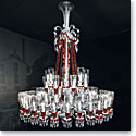 Baccarat Crystal, Zenith Red and Clear 64 Light Crystal Chandelier