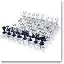 Baccarat Crystal, Chess Set, Clear and Midnight Limited Numbered Edition