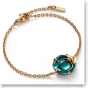 Baccarat Crystal B Flower Bracelet, Green Mordore and Gold Vermeil