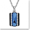 Baccarat Crystal Louxor Necklace, Silver and Blue Mordore