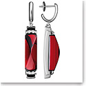 Baccarat Louxor Earrings, Silver and Red Mirror