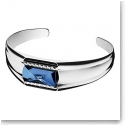 Baccarat Crystal Louxor Small Bracelet, Silver and Blue Mordore