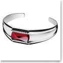 Baccarat Crystal Louxor Small Bracelet, Silver and Red Mirror