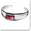 Baccarat Crystal Louxor Large Bracelet, Silver and Red Mirror