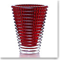Baccarat Crystal, Eye Extra Large Crystal Vase, Red