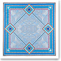 "Baccarat Louxor Silk Twill Scarf Carre 39"" X 39"", Light Blue"