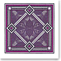 "Baccarat Louxor Silk Twill Scarf Carre 39"" X 39"", Purple"