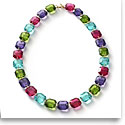 Baccarat Crystal Marie-Helene De Taillac Necklace Vermeil Gold Multicolor