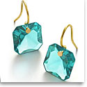 Baccarat Crystal Par Marie Helene De Taillac Turquoise Earrings, Pair