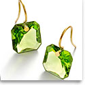 Baccarat Crystal Par Marie Helene De Taillac Green Earrings, Pair