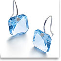Baccarat Crystal Par Marie Helene De Taillac Light Blue Earrings, Pair