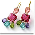 Baccarat Crystal Par Marie Helene De Taillac Multicolor Earrings, Pair