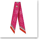 Baccarat Scarf Wool And Silk Louxor Maxi Twilly 3'' X 40'' Pink