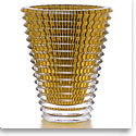 Baccarat Crystal, XL Eye Crystal Vase, Amber