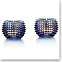 Baccarat Crystal, Blue Eye Crystal Votive, Pair