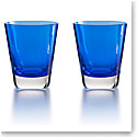 Baccarat Crystal, Mosaique Blue Tumbler, Pair