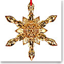 Baccarat Crystal, 2017 20K Gold Crystal Snowflake Ornament