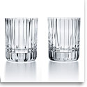 Baccarat Crystal, Harmonie Crystal Old Fashioned Tumbler, Medium Tumblers, Pair