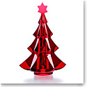 Baccarat Crystal, 2017 Meribel Fir Tree Crystal Sculpture, Red