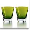 Baccarat Mosaique Tumbler Moss, Boxed Set Of 2