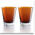 Baccarat Mosaique Tumbler Orange, Boxed Set Of 2