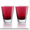 Baccarat Crystal, Mosaique Tumbler Red, Boxed, Pair