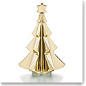 Baccarat Crystal Meribel Fir Tree Crystal Sculpture, Gold