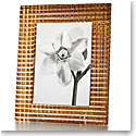 "Baccarat Crystal, Eye 5x7"" Picture Frame, Gold"