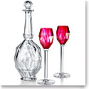 Baccarat Crystal, Memoire Service Atlantic Decanter, Wine Glass Set, Red Limited Ed. 100