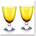 Baccarat Crystal Vega Small Amber Glass Pair