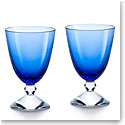 Baccarat Crystal Vega Small Blue Glass Pair