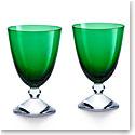 Baccarat Crystal Vega Small Green Glass Pair
