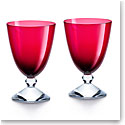 Baccarat Crystal Vega Small Red Glass Pair