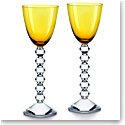 Baccarat Crystal Vega Rhine Wine Amber Glass Pair