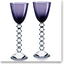 Baccarat Crystal Vega Rhine Wine Purple Glass Pair