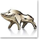 Baccarat Crystal Zodiac Boar 2019, Gold