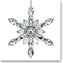 Baccarat Crystal Ornament Snowflake 2018, Silver