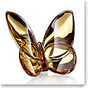 Baccarat Crystal Papillon Lucky Butterfly Gold, 20K