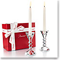 Baccarat Crystal Vega Candlesticks Gift Set of Two