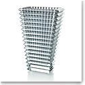"Baccarat Crystal Eye Rectangular Vase 11 3/4"" Silver"